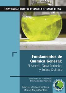 Cubierta para Fundamentos de Química General: El Átomo, Tabla Periódica y Enlace Químico
