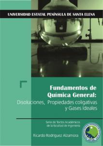Cubierta para Fundamentos de Química General: Disoluciones, Propiedades Coligativas y Gases Ideales